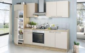 Einbauküche Turin in Kunststoff weiss