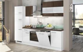 Einbauküche ECO in weiß/ kupferbronze