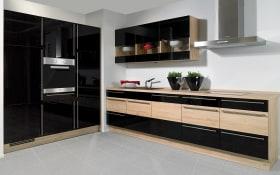 Einbauküche Focus in schwarz