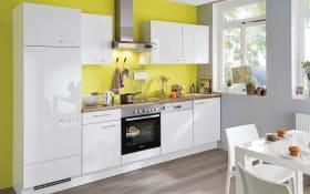 Einbauküche Flash in weiß, Steinspüle