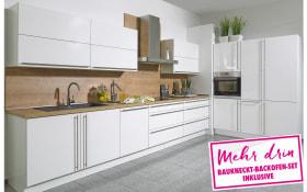 Einbauküche Lux in weiß Lack Hochglanz