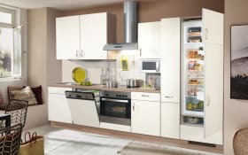 Einbauküche Focus in magnolia, Siemens-Geschirrspüler