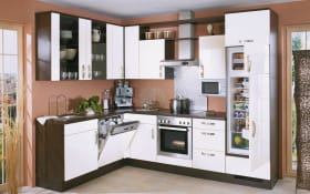Einbauküche Focus in weiß Lack, Miele-Geschirrspüler G4380VI