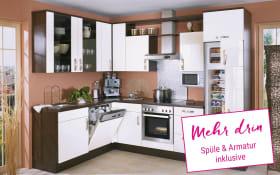 Einbauküche Focus in Lack weiß ultra, Neff Geschirrspüler