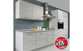 Einbauküche Riva in betongrau, Altus Geschirrspüler SVN1402