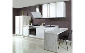 Einbauküche Focus 460 in Lack weiß, AEG-Geschirrspüler