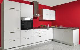 Einbauküche Touch in alpinweiß, Siemens-Geschirrspüler SN614X00AE