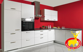 Einbauküche Touch in alpinweiß, Siemens-Geschirrspüler