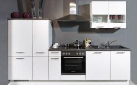 Einbauküche Focus in Lack weiß, Neff-Geschirrspüler
