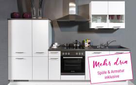 Einbauküche Focus in Lack weiß