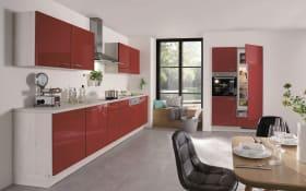 Einbauküche Flash 501 in Lacklaminat Hochglanz rot