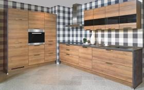 Einbauküche Riva Eiche-Nachbildung