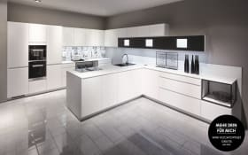Einbauküche Inline in alpinweiß, Siemens-Geschirrspüler SN614X00AE