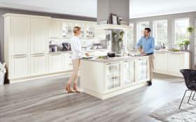 Marken-Einbauküche Sylt in weiß, Siemens-Geräte