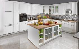 Marken-Einbauküche Sylt in weiß, AEG-Geschirrspüler