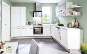 Einbauküche Speed in weiß softmatt, AEG-Geschirrspüler