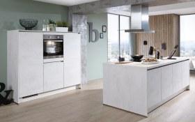 Einbauküche Riva in Weißbeton-Nachbildung
