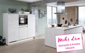Einbauküche Riva in Weissbeton-Optik