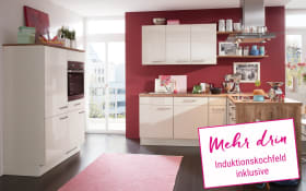Einbauküche Flash in magnolia Hochglanz, Neff Induktionskochfeld