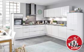 Einbauküche Focus in weiß, Miele Geschirrspüler G4380VIED