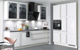 Einbauküche Flash in weiß, Bauknecht Geschirrspüler BCIO3T121PE