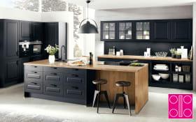 Einbauküche Sylt in schwarz, Miele-Geschirrspüler G6775