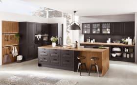 Einbauküche Sylt in schwarz, Siemens-Geschirrspüler SN614X00AE