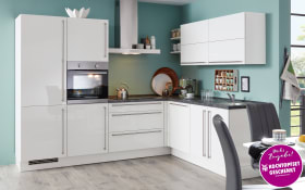 Einbauküche Flash in Lacklaminat weiß