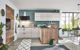 Einbauküche Lux 814 in Lack weiß, Siemens Geschirrspüler SN614X00AE
