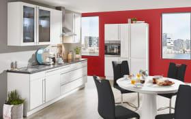 Marken-Einbauküche Flash in weiß, Siemens Geschirrspüler