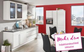 Marken-Einbauküche Flash in weiß, Neff Induktionskochfeld