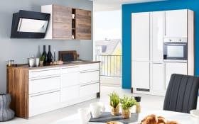 Einbauküche Flash, Lacklaminat weiß Hochglanz, inklusive Bauknecht Elektrogeräte
