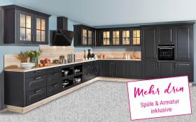 Einbauküche Sylt in schwarz, Siemens-Geschirrspüler