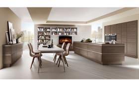 Einbauküche Structura Gladstone Oak Optik, Siemens-Geschirrspüler