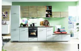 Einbauküche Touch, magnolia supermatt Lacklaminat, inklusive Elektrogeräte, inklusive AEG Geschirrspüler