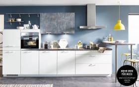 Einbauküche Speed in alpinweiß, Siemens-Geschirrspüler SN614X00AE