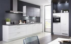 Einbauküche Fashion 168 in alpinweiß, Siemens-Geschirrspüler SN614X00AE