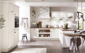 Einbauküche York, magnolia, inklusive Bauknecht Elektrogeräte