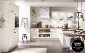 Einbauküche York in magnolia, Bauknecht Elektrogeräte