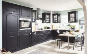 Einbauküche Sylt in schwarz, AEG-Geschirrspüler