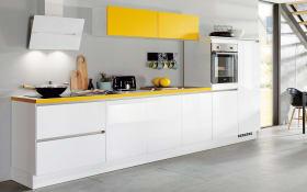 Einbauküche Focus in alpinweiß, Neff-Geschirrspüler