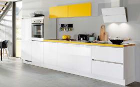 Einbauküche Focus 470, alpinweiß, inklusive Elektrogeräte, inklusive Siemens Geschirrspüler