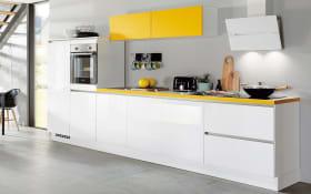 Einbauküche Focus 470, alpinweiß, inklusive Elektrogeräte, inklusive AEG Geschirrspüler