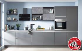 Einbauküche Touch in schiefergrau seidenmatt, Neff-Geschirrspüler