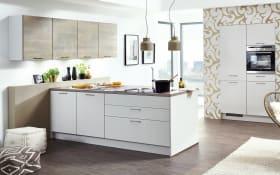 Einbauküche Touch, seidengrau, inklusive Elektrogeräte
