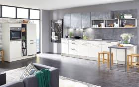 Einbauküche Touch, alpinweiß seidenmatt, inklusive Elektrogeräte
