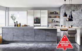 Einbauküche Riva in Beton-Schiefergrau