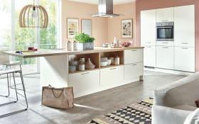 Einbauküche Fashion in magnolia, Miele-Geschirrspüler