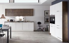 Einbauküche Flash in weiß Hochglanz, AEG-Geschirrspüler