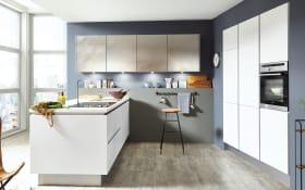 Einbauküche Fashion in weiß, Siemens-Geschirrspüler